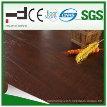 Plancher stratifié imperméable stratifié par bois de rosewood de finition de 8mm 12mm stratifié