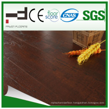 12mm Chocolate Oak Eir Finish German Technology Laminated Flooring with License