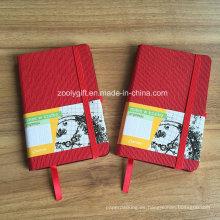 Personalizado promocional A6 PU Cuero Moleskine Notebook