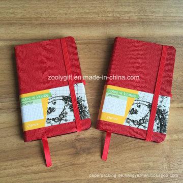 Kundenspezifische Werbeartikel A6 PU Leder Moleskine Notebook