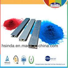 Revestimiento de polvo industrial de alto brillo de aluminio industrial