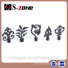 curtain accessory decorative wrought iron curtain rod finials