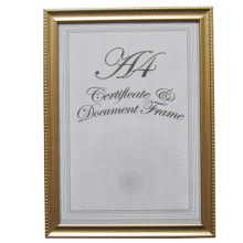Golden Elegant And Simple A4 Certificate Frame