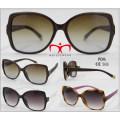 Lunettes de soleil en plastique à la mode et à la vente chaude (WSP601538)