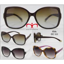 Gafas de sol de plástico de venta de moda y caliente (WSP601538)