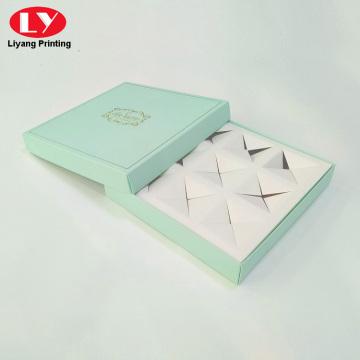 9 Stück quadratische Macaron Papierbox benutzerdefinierte