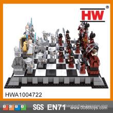 Popular educativos DIY 1142PCS plástico 3D gran juego de ajedrez