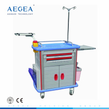 AG-ET011A1 CE abs body medical function with drawers hospital emergency treatment trolley
