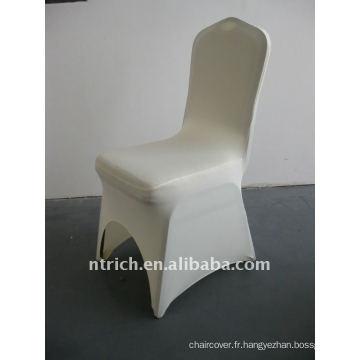 couverture de chaise d'ivoire / beige / crème spandex, CTS656, adapté à toutes les chaises