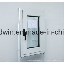 Ventana de aluminio con ventana de vidrio templado