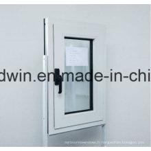 Fenêtre personnalisée à double vitrage verre trempé fenêtre en aluminium