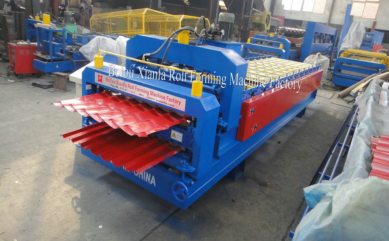 glazed double tile forming machine
