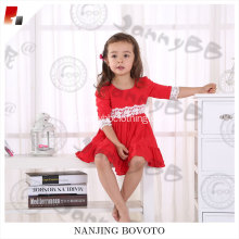 Red cute lace party dress, red Christmas