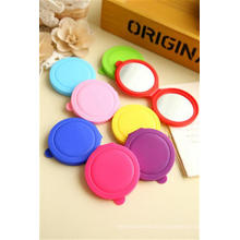 Promotion Gifts Silicone Mini Cosmetic Mirror Bag Mirror Cover