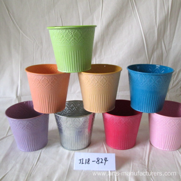 Factory directly provide for Large Outdoor Flower Pots Metal Round Plants Flower Pot supply to United States Manufacturers