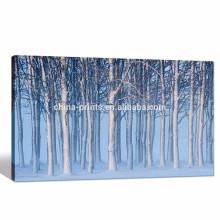 Impresión digital / paisaje del cuadro del bosque del invierno Decoración casera / ilustraciones enmarcadas de la lona