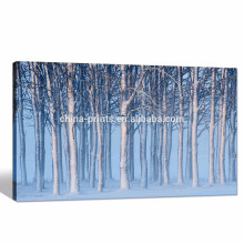 Inverno Floresta Imagem Digital Print / Landscape Posters Decoração para casa / lona emoldurada Artwork