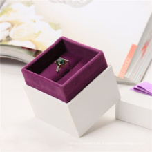 Caja de regalo de empaquetado de papel del anillo de la joyería de lujo del collar