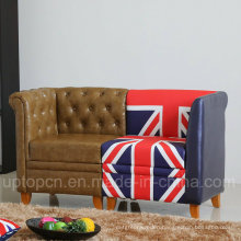 Special Design Double Seat Sofa Set with Different Printed (SP-KS344)