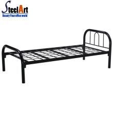 Meubles de chambre à coucher simples simples conceptions de lit en acier unique