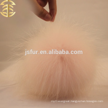 Update Raccoon Fur Ball Skullies Wholesale Pale Pink Raccoon Accessories Genuine Fur Cap Pom Poms
