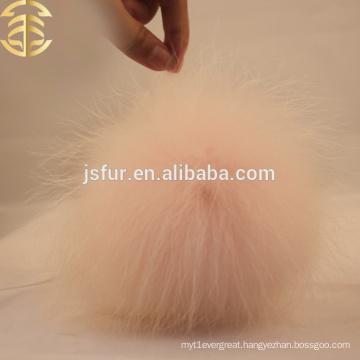 Update Raccoon Fur Ball Skullies Wholesale Pale Pink Raccoon Accessories Genuine Fur Cap Pom Poms
