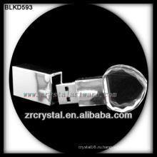 в форме сердца кристалл USB флэш-накопители USB палочки BLKD593