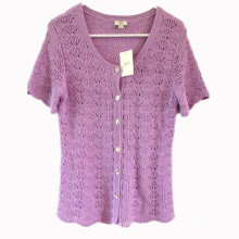 15PKLS10 2016 lady trendy breathable linen top cardigan