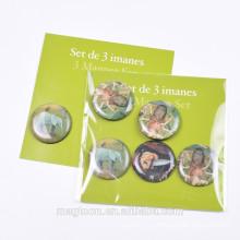 Тайланд сувенирные рекламные подарки круглые прозрачные эпоксидные холодильники магнит наклейки