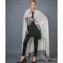 Écharpe en cachemire à teinture de fil pour femmes