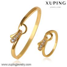 64095-xuping Mode 24k Gold Armreifen Armbänder Dubai Schmuck-Sets
