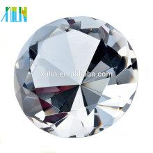 lembranças de casamento de cristal personalizado presente diamante de cristal claro para lembranças de casamento