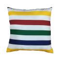 Rainbow stripe soft pillow for home decor