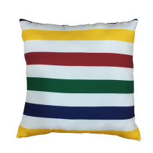 Rainbow stripe soft pillow for home decor