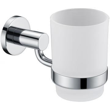 Suporte de vidro com copa série de latão para banheiro