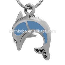 Animal Dolphin acero inoxidable cremación recuerdo joyas colgantes