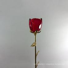 Date fleurs artificielles cristal fleur rose pour centres de mariage