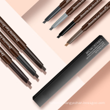 New Trending Makeup Waterproof OEM/ODM Microblading Wooden Long Lasting Double Head Eyebrow Pencil with Brush