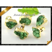 Verde Agete Druzy Anillos Al por mayor Anillos de Joyería Mujer (FR009)