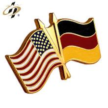 Fornecimento de fábrica de alta qualidade de metal personalizado esmalte bandeira lapela pin