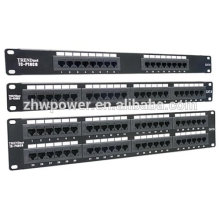 Cat5e/Cat6/Cat6a/Cat7 UTP rack Mount 6 12 24 48 Port voice Patch Panel,19'' 1U 2U rj45 network Modular Patch Panel