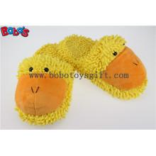Леди обувь Плюшевые фаршированные закрытые Teo Крытый тапочки в мультфильм утиная голова