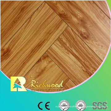 Comercial 12.3mm en relieve hickory encerado filo piso lamiantado