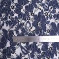 Denim Flower 3D Laser Cut Lace Embroidery Fabric
