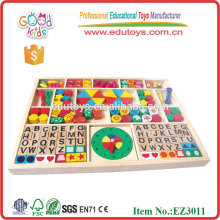 All-In-One Wooden Threading Toy