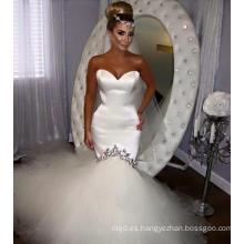 Vestidos de boda atractivos de la sirena 2017 Neckline del amor del cordón