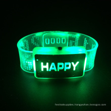 2016 Christmas Light Happy Blinking up Bracelet