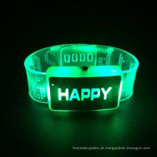 2016 luz de natal feliz piscando pulseira