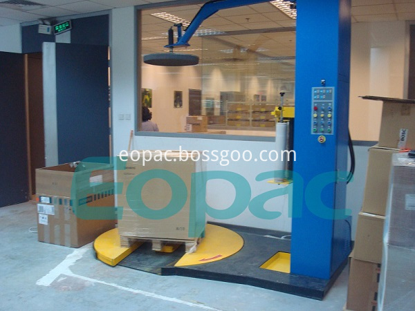 Automatic Pallet Stretch Wrapping Machine
