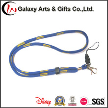 Printed Polyester Jacquard Woven Logo Cord Round Rope Lanyards